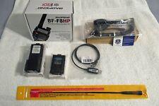 Baofeng Bf-F8Hp 8-Watt Dual Band Two-Way Radio W/Complete Accessories See Pics