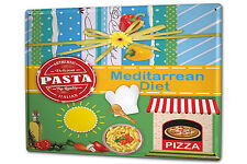 Tin Sign XXL Metal Plaque World Trip Mediterranean diet Pizza