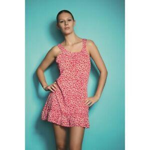 Freya Swim Charleston Red Frilly Bottom Beach Dress UK Size Small  3306     (12)