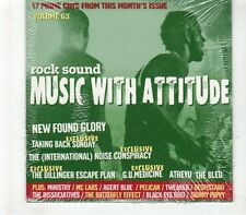 (GR550) Rock Sound Music With Attitude Volume 63 - 2004 sealed CD