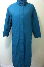Eddie Bauer women goose down filled teal green full lenght weather coat size M/L