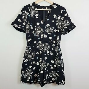 [ CUE CITY ] Womens Floral Print Playsuit | Size AU 10 or US 6