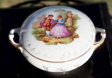 Grande bonbonnière boîte porcelaine Limoges Fragonard Vintage trinket box