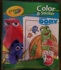 Finding Dory Nemo Disney/Crayola Kid Color Pad/Book 50+ Stickers A9