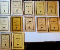 LOT of 12 EULENBERG SCORES - Bach (2), Brahms (2), Beethoven (4) & Mozart (4).