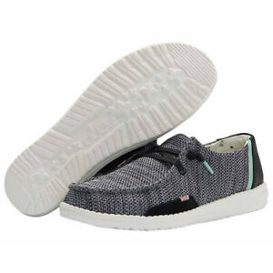 Hey Dude Wendy Sox Sparkling Black Lightweight Casual Slip On Women's Shoes