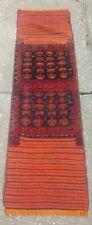 Rare Traditional Antique Vintage Persian Qashqai Wool Half Kilim Half Rug Runner