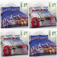 2018 New York City Skyline Duvet Quilt Cover Bedding Set Double Kingsize NYC NEW