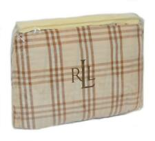 RALPH LAUREN Prairie Plains Plaid Tan Brown KING BEDSKIRT NEW 1ST QUALITY RARE