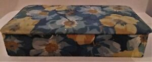 Box To Needlework Or To Jewelry Vintage Floral Fabric