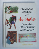 CHILDREN'S STORIES OF THE BIBLE Hardcover 1968 Deluxe Edition -Old New Testament