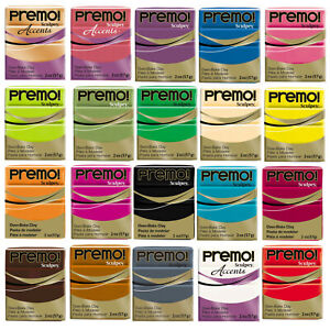 Sculpey PREMO & SOUFFLE & Accents Polymer Clay 75 colors