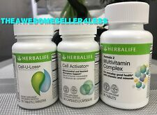 NEW HERBALIFE COMBO  CELL-U-LOSS  - CELL ACTIVATOR  - MULTIVITAMIN COMPLEX