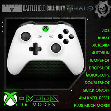 XBOX ONE RAPID FIRE CONTROLLER - BEST MOD ON EBAY!! White - Green LED Blackout