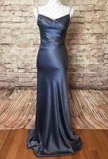 EILEEN KIRBY Size 10 Dress Silk Grey Evening Cocktail Wedding Guest Bridesmaid