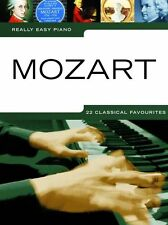 Really Easy Piano Mozart Learn to Play Beginner Classical Solo Music Book