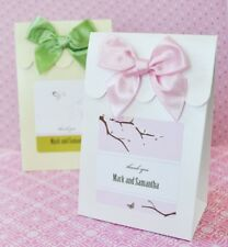 96 Personalized Elite Wedding Candy Boxes Bags Favors