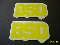 2 AUTHENTIC SMALL BSD BMX BIKE FRAME STICKERS / DECALS #7 AUFKLEBER