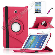 """For Samsung Galaxy Tab 3 7.0 Rotating 360 Case Cover w/ Stand 7"""""""