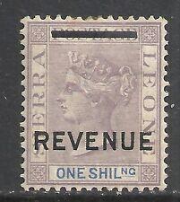 Sierra Leone 1897 REVENUE ovpt on 1Sh stamp  MLH  VF
