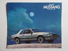 FORD mustang 1979 révisé original brochure catalogue prospekt