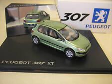 PEUGEOT 307 XT vert métal 1/43 fabrica Norev 473701 voiture miniature collection