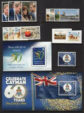 CAYMAN ISLANDS NH Complete Year Set by Scott: 15 Stamps + 2 S/S - Free USA Ship