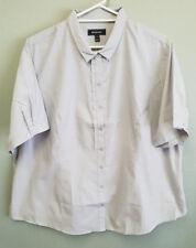 BNWT Ladies Sz 26 NNT Brand Silver Ruffle Front Short Sleeve Style Uniform Shirt