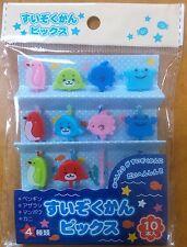 Cute Sea Creature Food Picks for Japanese Bento Lunch Box Seal Crab Penguin Fish