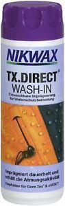 (1 Liter / 46,53 Euro) 300 ml Nikwax TX Direct Einwaschbare Imprägnierung Membra