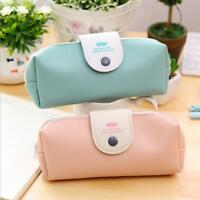 School Pencil Case PU Leather Pencils Box Pen Bag For Girl Korean Stationery New