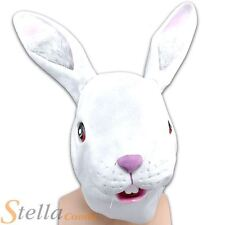 Unisex Adult Rabbit Over Head Rubber Mask Easter Bunny Animal Fancy Dress