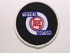 TOYOTA MOTOR CORPORATION EMBROIDERED PATCH WOVEN CLOTH BADGE SEW-ON RACING V8