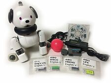 SONY AIBO ROBOT LATTE ERS-311 SHIMMERY WHITE CUSTOM COLOR + 4 SOFTWARE BUNDLE