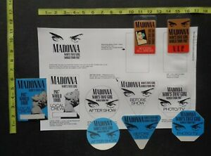 MADONNA,6 OTTO Backstage passes,security door sign