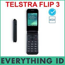 TELSTRA ZTE FLIP 3 BLACK 4G 4GX BLUE TICK SENIORS BIG BUTTON RURAL MOBILE PHONE