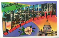 MISSISSIPPI Greetings From US Postcard Reprint Circa 1930s-40s #B4G