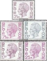 Belgien 1802x-1806y (kompl.Ausg.) postfrisch 1975 König Baudouin