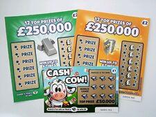 QUICK SALE 3 x Mixed Fake Joke Lottery Scratch Card Tickets - Best Joke Ever