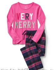 Gap Kids Girl's Pendleton Verry Merry Flannel Pajama Sleep Set Sz. 8 NWT