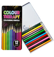 New Artists Colouring Pencils Professional Quality Metallic Colour Therapy