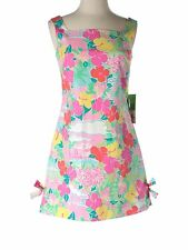 New Women Lilly Pulitzer Paley Harbour View Parrot Stretch Shift Dress Size 0