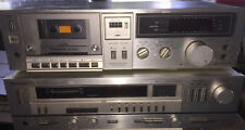 Technics Stereo Receiver SA-424 and M240X Cassette Tape Deck