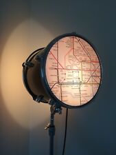 Upcycled Tom Drum Floor Lamp Light with London Underground Design - Drummer Gift