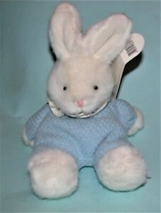 Russ Berrie plush Easter Blue Bunny #3660, spring New, blue/white, floppy rabbit