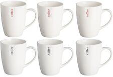 Price & Kensington Set of 6 White China Coffee Cups Coffee Mugs Set of 6
