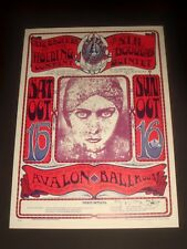 FD30 JANIS JOPLIN + BIG BROTHER 1966 Avalon Ballroom Poster STANLEY MOUSE SIGNED