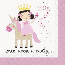 16 Pink Princesse & Licorne Serviette Licorne Couverts de Table Fête Soirée