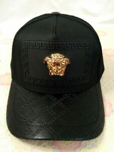 New Versace Unisex Hat Golf Cap Sport Baseball Outdoor Adjustable Black Hat
