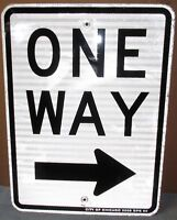 ONE WAY w/Right Arrow Chicago Aluminum Road/Street Sign 24 x 18 Man Cave S579